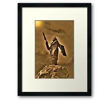 Inca King Huayna Capac Appeals To The Sun God Framed Print