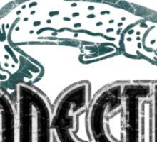 FISH CONNETICUT VINTAGE LOGO Sticker