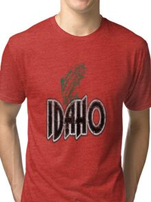FISH IDAHO VINTAGE LOGO Tri-blend T-Shirt