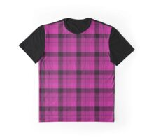 Tartan Plaid Hot Pink Black Graphic T-Shirt