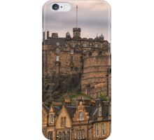 Edinburgh Castle Sunset from Candlemaker Row iPhone Case/Skin