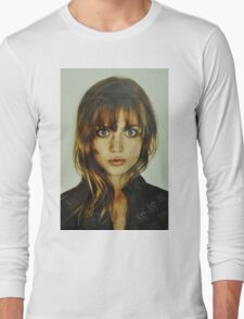 big eyes girl Long Sleeve T-Shirt
