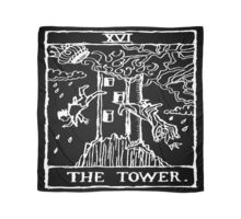 The Tower Tarot Card Print Scarf