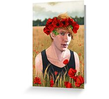 -Poppies- Greeting Card
