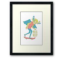 Neck Deep Skater Framed Print