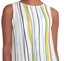 Blue and white stripes blue and white stripes Contrast Tank