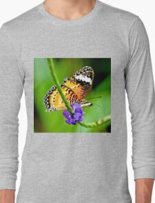 Common Lacewing Butterfly Long Sleeve T-Shirt