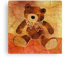 Teddy bear with a bow Canvas Print