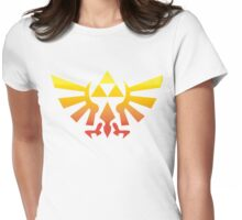 Triforce (Yellow) Womens Fitted T-Shirt