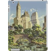 New York United Air Lines Vintage Travel Poster iPad Case/Skin