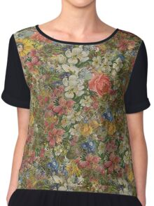 Pretty Odd Inspired Flowers Chiffon Top