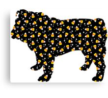 Halloween Bulldog Canvas Print