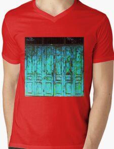 Turquoise Doors  Mens V-Neck T-Shirt