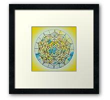 Solar Plexus Chakra Mandala Framed Print