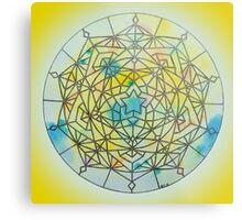Solar Plexus Chakra Mandala Metal Print