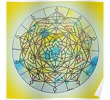 Solar Plexus Chakra Mandala Poster