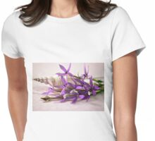 Shell And Flower Beauty Womens Fitted T-Shirt