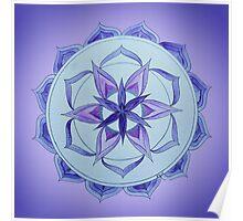 Crown Chakra Mandala Poster