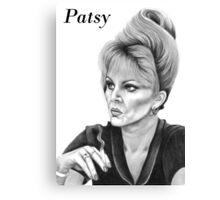 Joanna Lumley plays Patsy Canvas Print