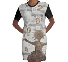 Lady Luck Graphic T-Shirt Dress