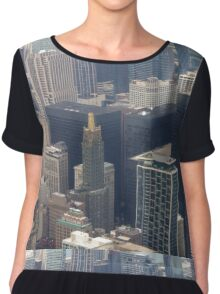 Skyscrapers of Chicago Chiffon Top
