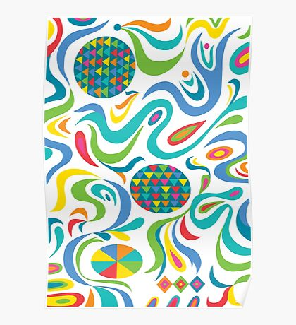 Cartwheel white Poster