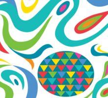 Cartwheel white Sticker