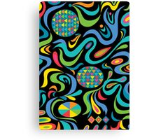 Cartwheel Black Canvas Print