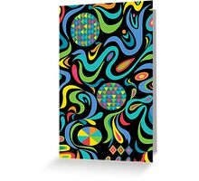 Cartwheel Black Greeting Card