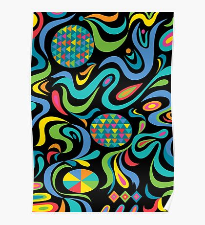 Cartwheel Black Poster