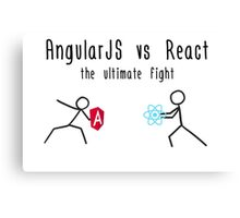 AngularJS vs React Canvas Print