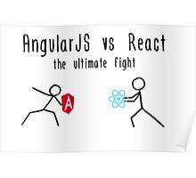AngularJS vs React Poster