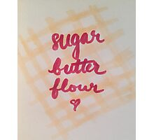 sugar, butter, flour Photographic Print