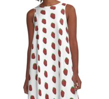 Strawberry Fruit A-Line Dress