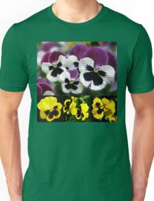 Cute Pansies Collage Unisex T-Shirt