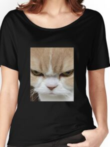Cute Angry Kitten Women's Relaxed Fit T-Shirt