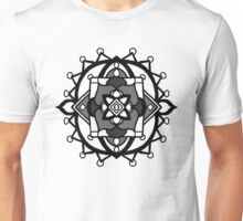 Grey scale Mandala Unisex T-Shirt