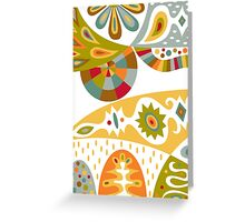Bohemian white Greeting Card