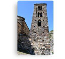 church in Andorra La Vella Canvas Print