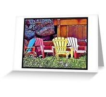 Lounge Chairs Greeting Card