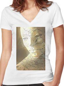 Sculpture Women's Fitted V-Neck T-Shirt