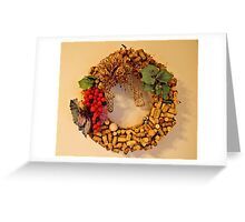Cork Wreath Greeting Card