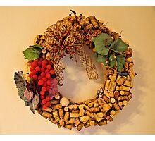Cork Wreath Photographic Print