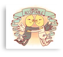 I Find You Acceptable Canvas Print