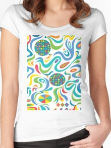 Cartwheel white Women's Fitted Scoop T-Shirt