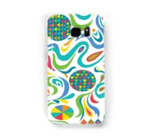 Cartwheel white Samsung Galaxy Case/Skin