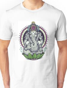 Ganesh and Lotus Flower Unisex T-Shirt