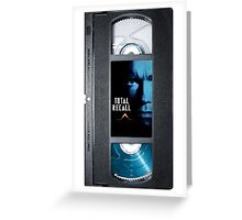 Total Recall vhs iphone-case Greeting Card