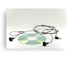 cd with headphones Canvas Print