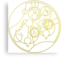 'Gallifrey Falls No More.' in Gallifreyan - Gold (transparent background) Canvas Print